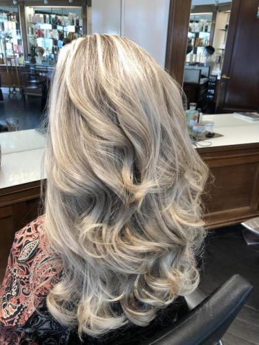 styling af det lange hår