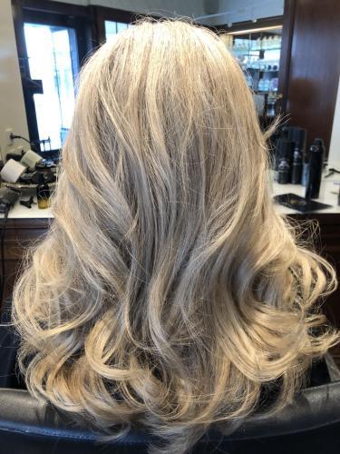 kold farve i lang hår