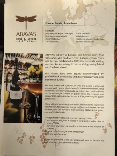 ABAVAS - Sparkling rhubarb wine